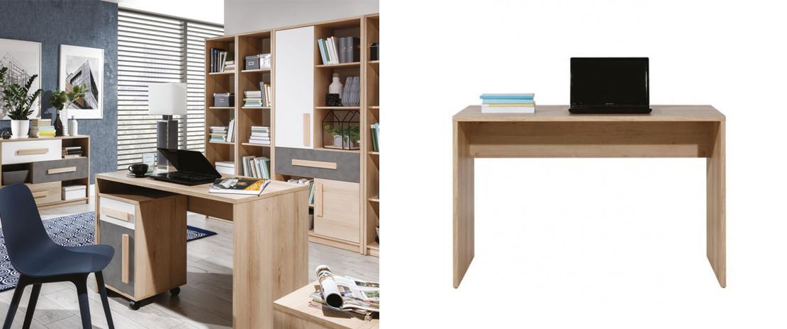 nowoczesne biurko o prostym kształcie