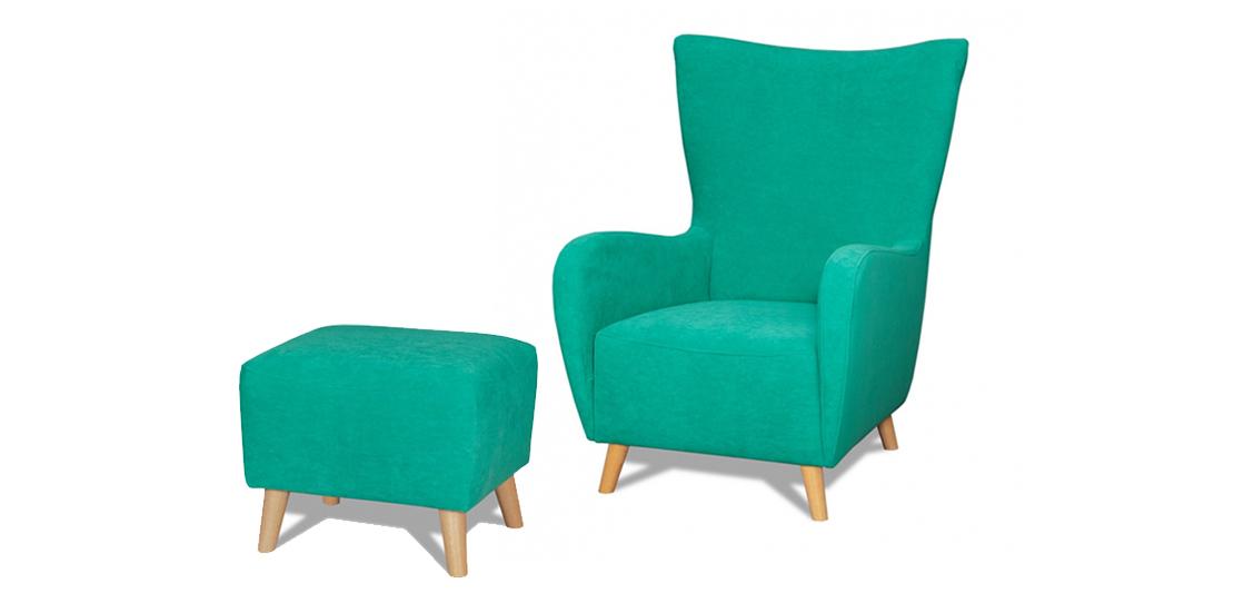 wygodny fotel o masywnej konstrukcji