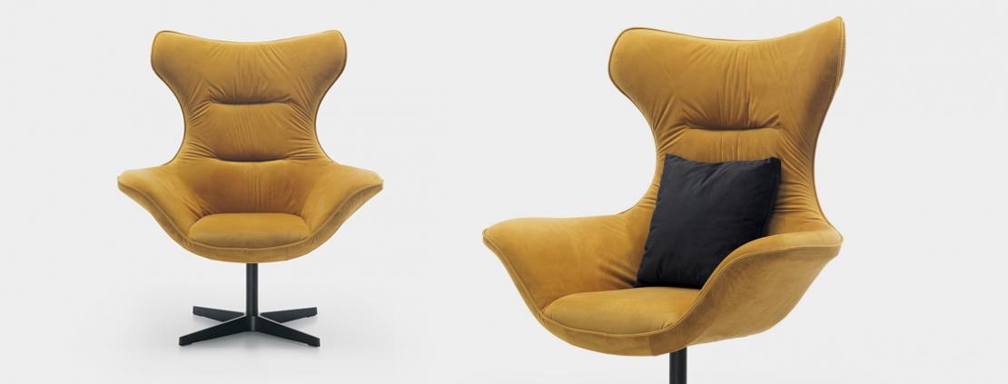fotel obrotowy w modnym kolorze