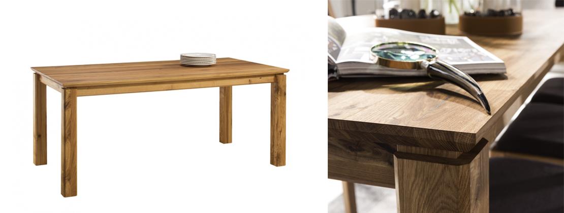 stół z elementami litego drewna