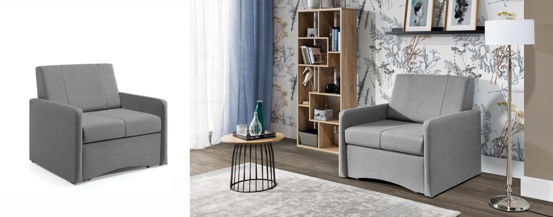stylowy rozkładany fotel