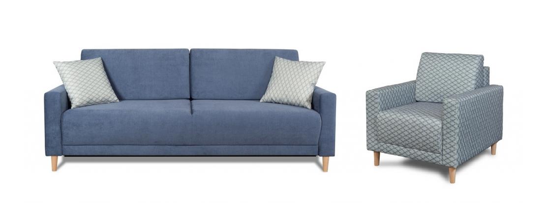 zestaw kanapa + fotel