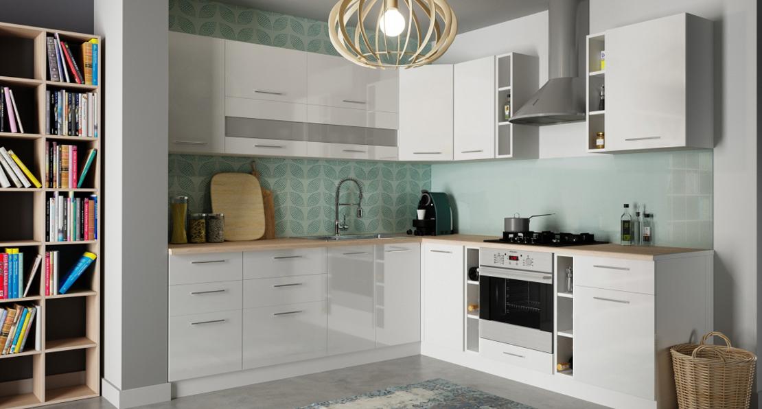 biały zestaw mebli do kuchni
