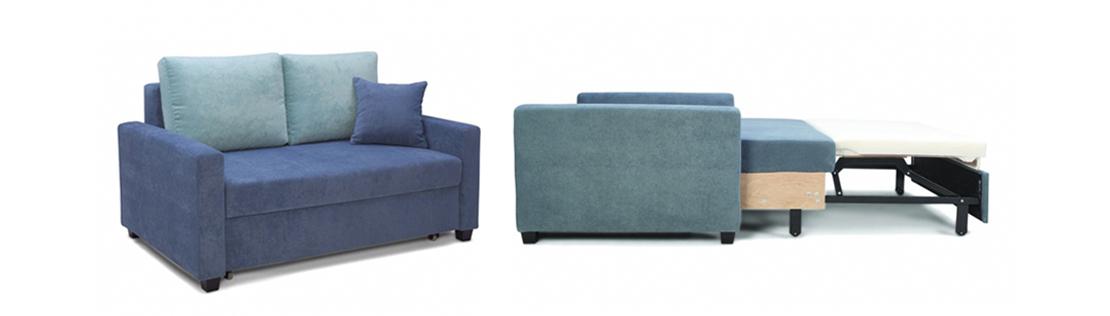 mała sofa z funkcją spania