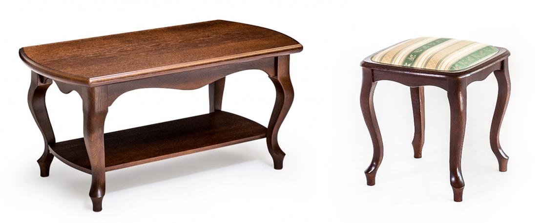 meble do salonu z litego drewna