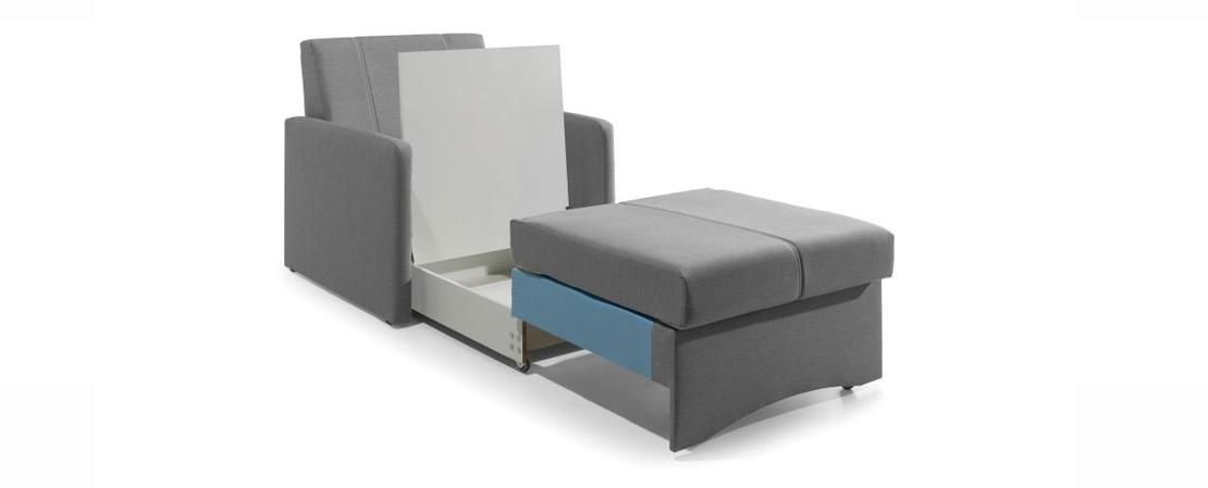 wypoczynkowy fotel z funkcją spania